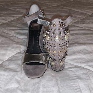 Dolce Vita silver studded heels size 6